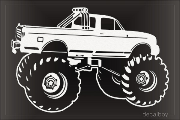 Monster Truck Lifted Decal