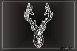 Mounted Deer Window Decal