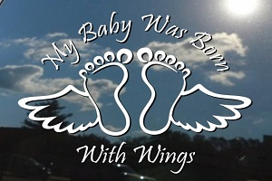 My Baby Was Born With Wings Decal