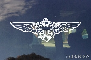 Navy Aviator Wings Decal