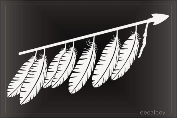 Native American Indian Feathers Decal