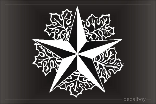 Nautical Star Leaf Car Decal