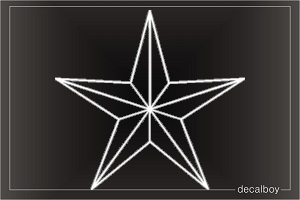 Nautical Star Outline Car Decal