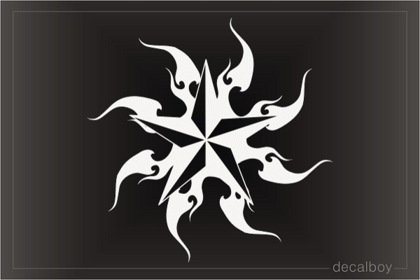 Nautical Star Tattoo Car Decal