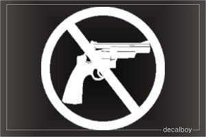 No Guns Car Decal