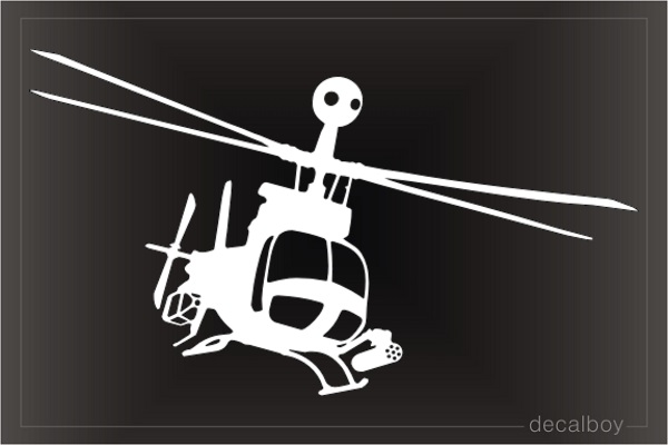 OH 58 Kiowa Warrior Helicopter Decal