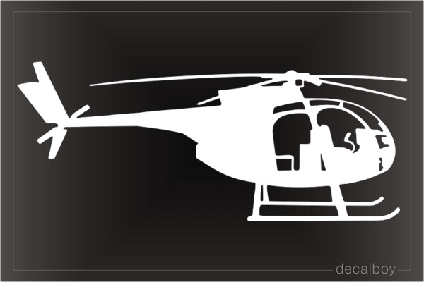 OH 6 Helicopter Decal