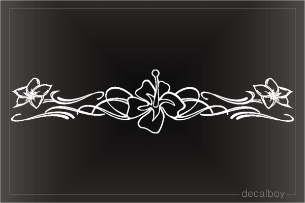 Orchid Flower Stripe Window Decal