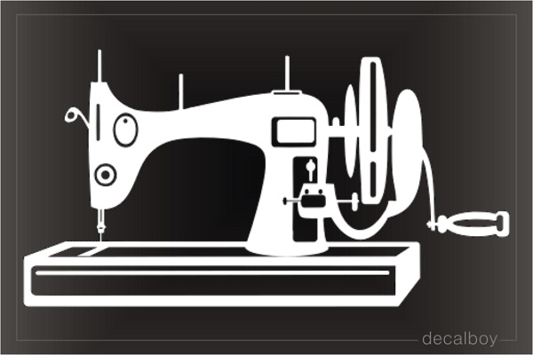 Old Sewing Machine Decal