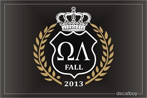 Omega Lambda Logo Decal
