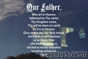 Our Father Window Decal