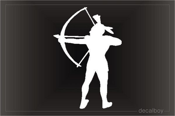Indian Archer Car Window Decal