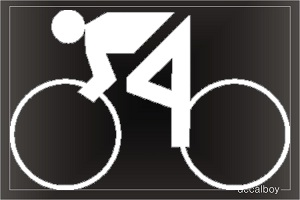 Biking Olympic Window Decal