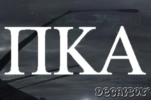 Pi Kappa Alpha Vinyl Die-cut Decal
