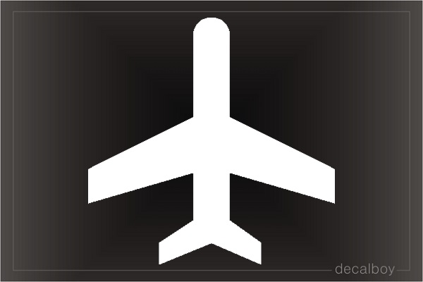 Plane 6 Window Decal