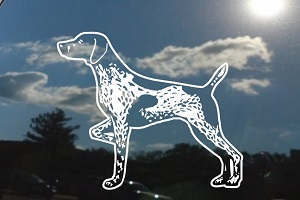 Pointer Car Window Decal