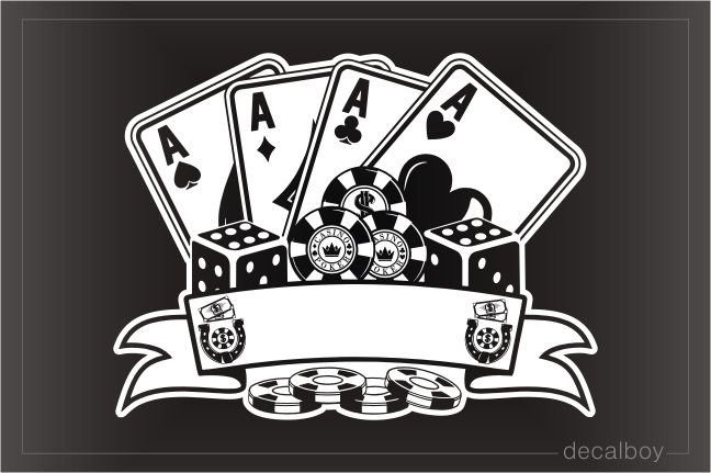 Poker Casino Decal