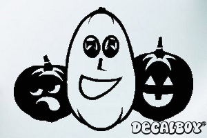 Halloween Pumpkins Car Window Decal