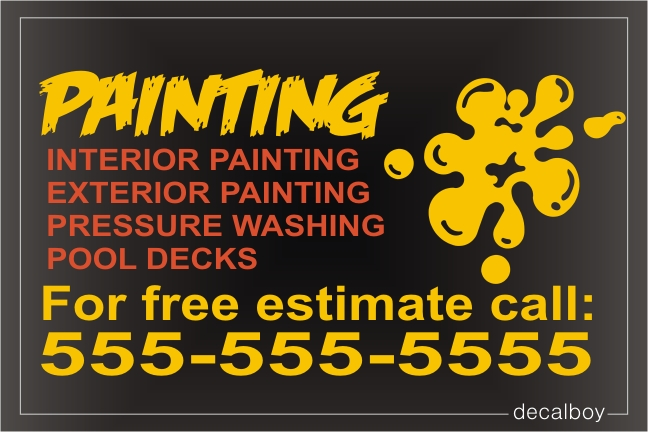 Painting Sign Decal