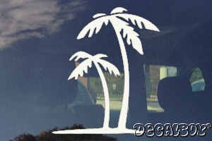 Palm Tree Island Window Decal