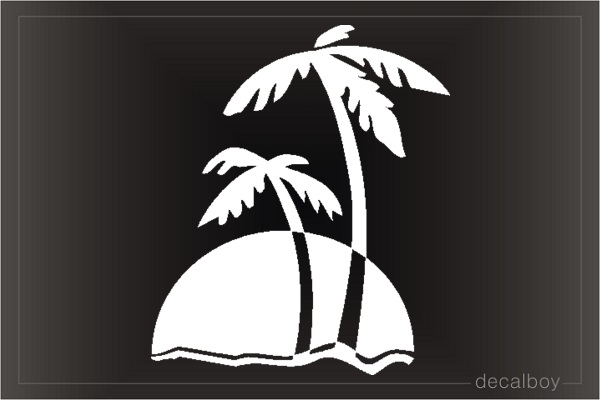 Palm Tree Sunset Car Window Decal