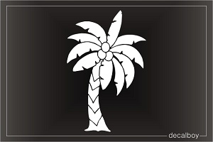 Palm Tree Coconut Window Decal