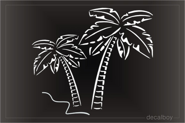 Palm Trees Beach Tropical Decal