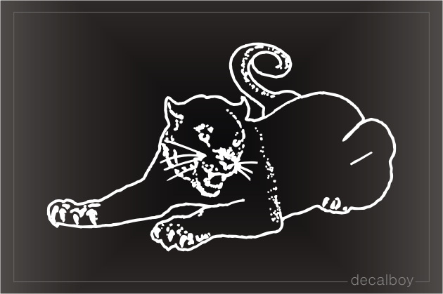 Panther Sitting Window Decal