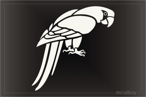 Parrot Macaw Decal