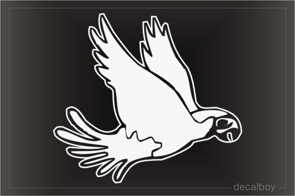 Parrot Cockatoo Fly Window Decal
