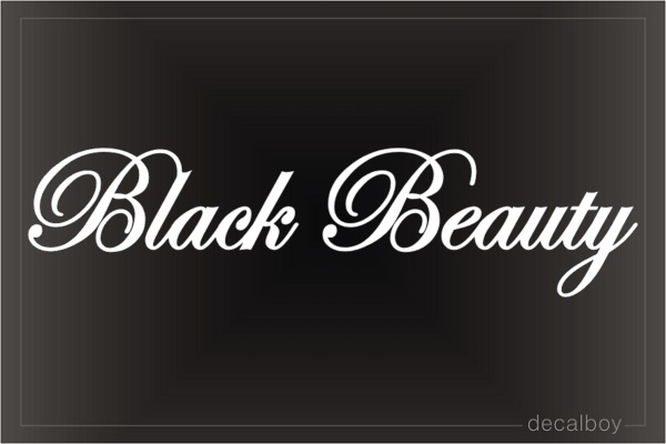 Black Beauty Car Decal