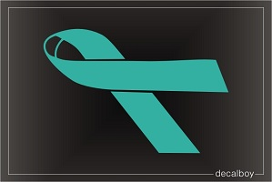 Ovarian Cancer Awareness Ribbon Car Decal