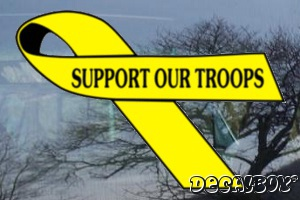 Support To Our Troops Auto Decal