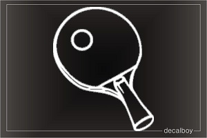 Ping Pong Paddle Window Decal