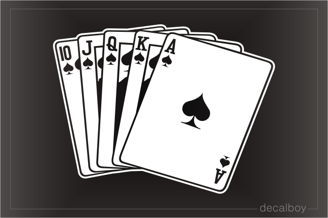 Poker Royal Flush Spades Decal