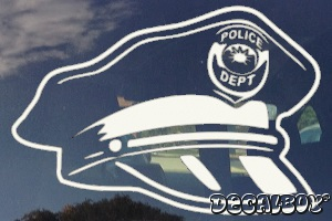 Police Hat Decal