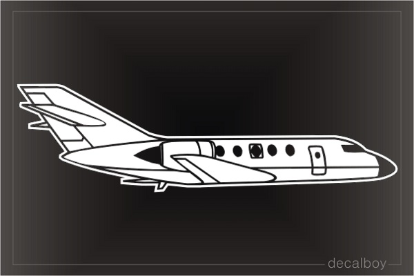 Private Jet Car Window Decal