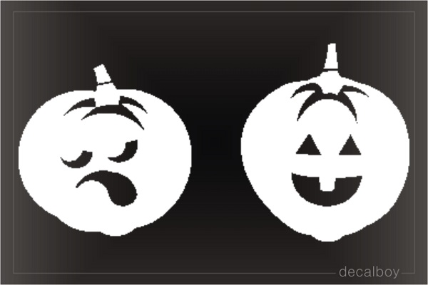 Pumpkin 1 Window Decal