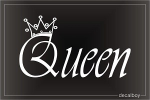 Queen Crown Tattoo Design Car Window Decal