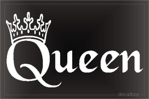 Queen Crown Decals Amp Stickers Decalboy