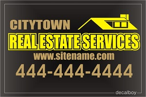 Real Estate Sign Decal