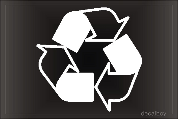 Recycling Car Decal