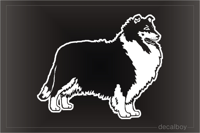 Rough Collie Car Window Decal