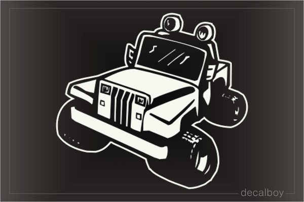 Racing Jeep Window Decal