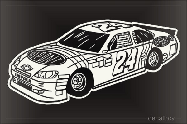 Racing Car Impala Decal