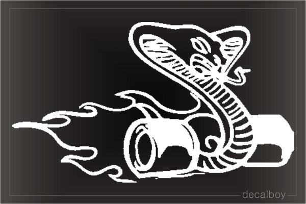 Racing Cobra Wheels Window Decal