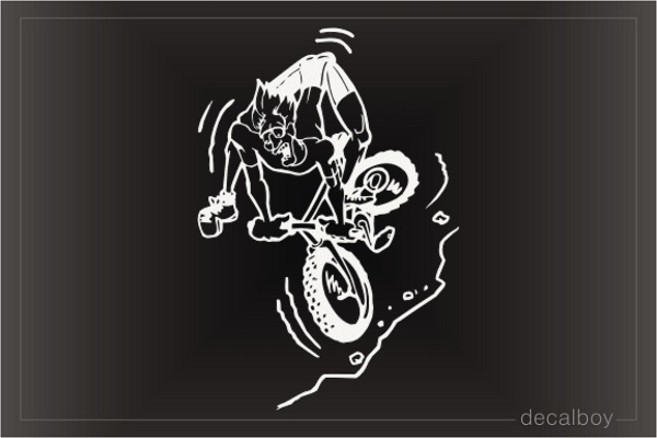 Racing Mountain Bike Window Decal