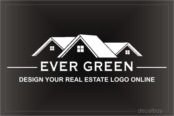 Real Estate Logo Decal