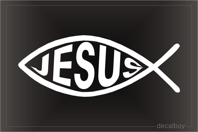 Christian Fish Jesus Decal