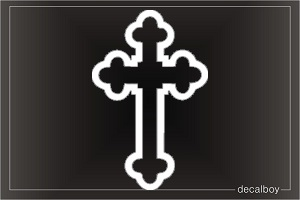 Cross Window Decal